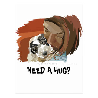 HUGGABLE PUPPY POSTCARD