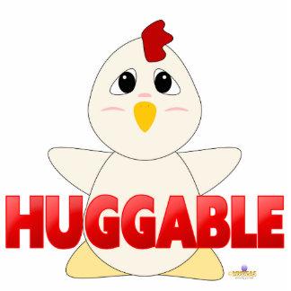 Huggable rojo del pollo blanco Huggable Escultura Fotografica