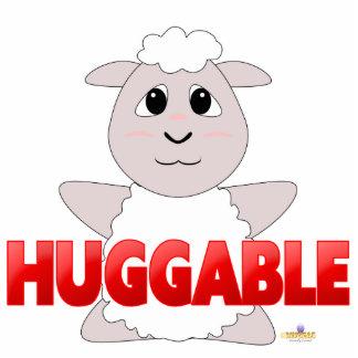 Huggable rojo Huggable de las ovejas blancas Escultura Fotografica