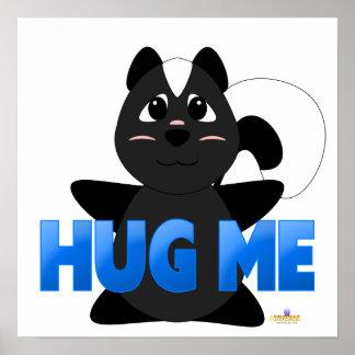 Huggable Skunk Blue Hug Me Posters
