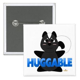 Huggable Skunk Blue Huggable Buttons