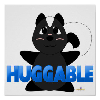 Huggable Skunk Blue Huggable Poster