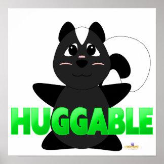 Huggable Skunk Green Huggable Poster