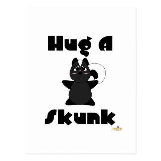 Huggable Skunk Hug A Skunk Postcard