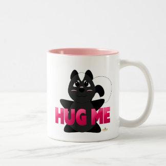 Huggable Skunk Pink Hug Me Two-Tone Coffee Mug