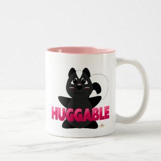 Huggable Skunk Pink Huggable Two-Tone Coffee Mug