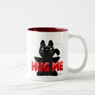 Huggable Skunk Red Hug Me Two-Tone Coffee Mug