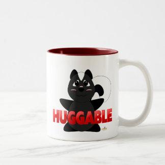 Huggable Skunk Red Huggable Two-Tone Coffee Mug