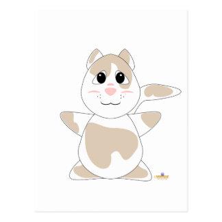 Huggable Tan Cat Postcard