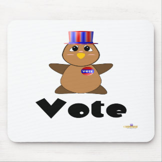 Huggable Voting Brown Owl Vote Mouse Mats
