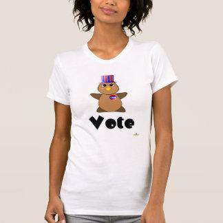 Huggable Voting Brown Owl Vote T Shirt