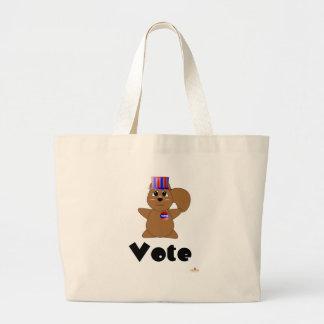 Huggable Voting Brown Squirrel Vote Bags