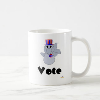 Huggable Voting Dolphin Vote Coffee Mugs