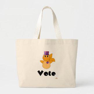 Huggable Voting Goldfish Vote Canvas Bags