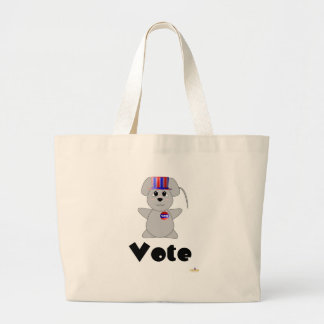 Huggable Voting Gray Mouse Vote Bag
