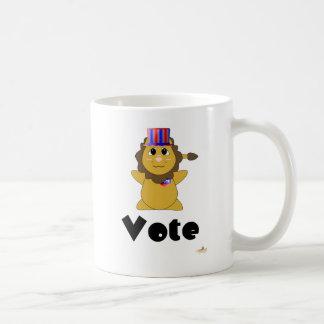 Huggable Voting Lion Vote Mug