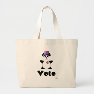 Huggable Voting Panda Bear Vote Canvas Bag