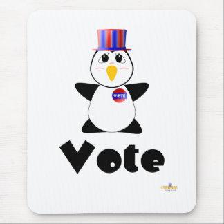Huggable Voting Penguin Vote Mouse Pad