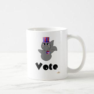 Huggable Voting Shark Vote Mug