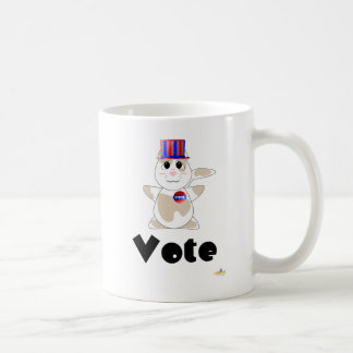 Huggable Voting Tan Spotted Cat Vote Coffee Mug