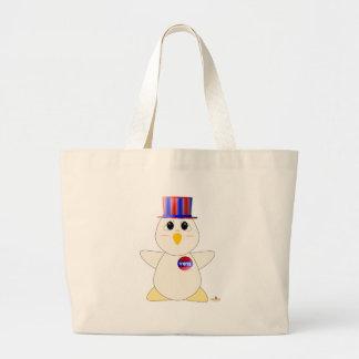 Huggable Voting White Chicken Jumbo Tote Bag