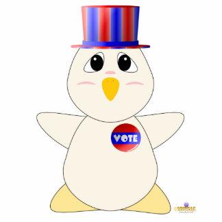 Huggable Voting White Chicken Photo Sculpture