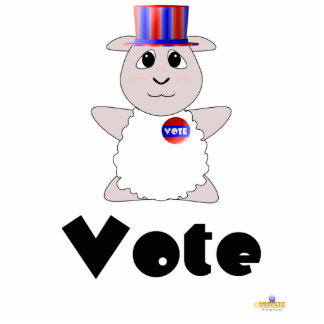 Huggable Voting White Sheep Vote Photo Sculpture