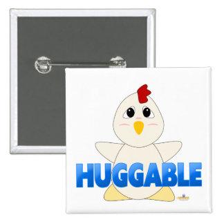 Huggable White Chicken Blue Huggable Pins