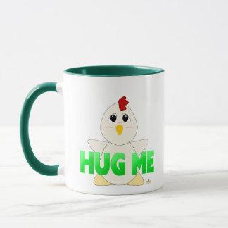 Huggable White Chicken Green Hug Me Mug