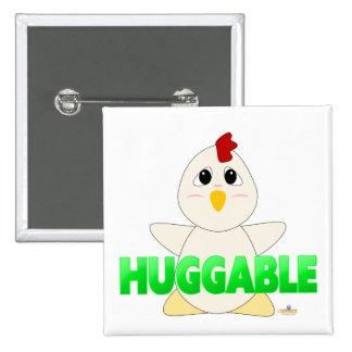 Huggable White Chicken Green Huggable Pin