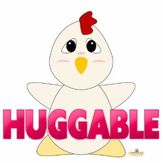 Huggable White Chicken Pink Huggable Cut Outs