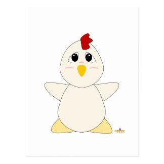 Huggable White Chicken Postcard