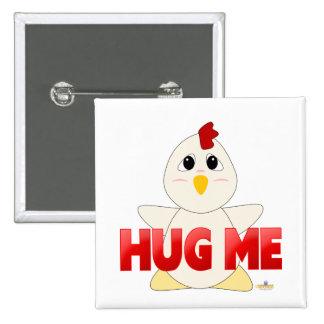 Huggable White Chicken Red Hug Me Pin