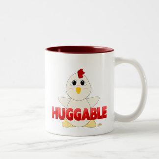 Huggable White Chicken Red Huggable Two-Tone Coffee Mug