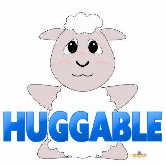 Huggable White Sheep Blue Huggable Photo Cut Out