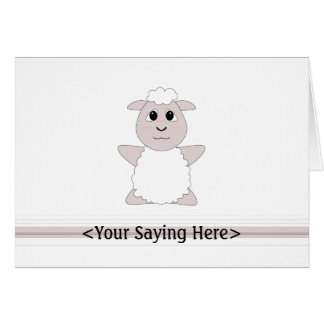 Huggable White Sheep Card