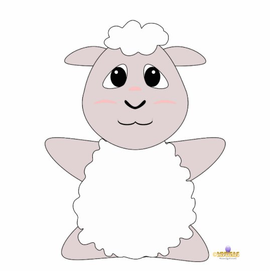 Huggable White Sheep Cutout