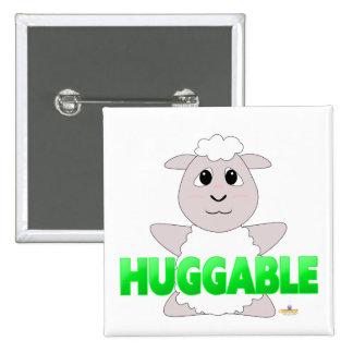 Huggable White Sheep Green Huggable Pin
