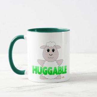 Huggable White Sheep Green Huggable Mug