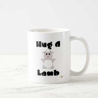 Huggable White Sheep Hug A Lamb Coffee Mug