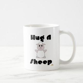 Huggable White Sheep Hug A Sheep Coffee Mug
