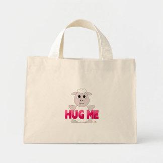 Huggable White Sheep Pink Hug Me Canvas Bag