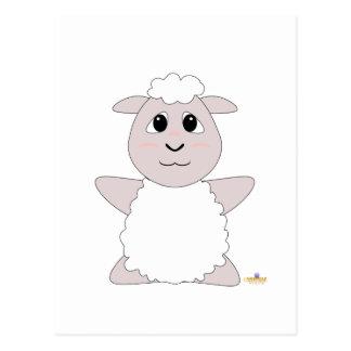 Huggable White Sheep Postcard