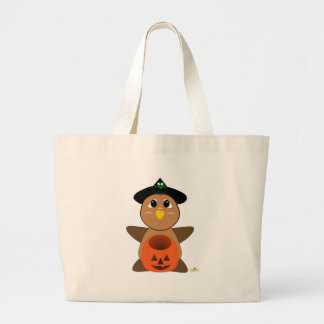 Huggable Witch Brown Owl Canvas Bag