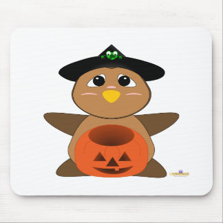 Huggable Witch Brown Owl Mouse Mat
