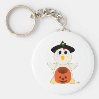 Huggable Witch White Chicken Keychain
