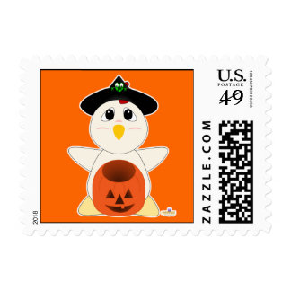 Huggable Witch White Chicken Postage Stamps