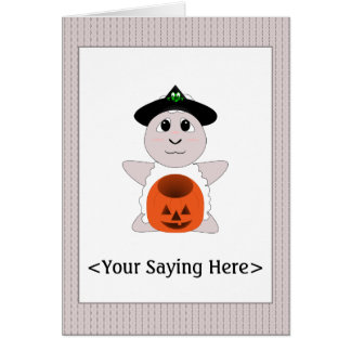 Huggable Witch White Sheep Card