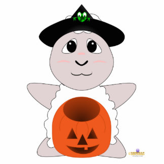 Huggable Witch White Sheep Cut Outs