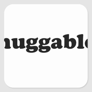 Huggables in Black Square Sticker